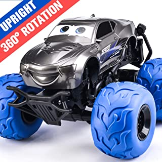 NQD Electric RC Car Off Road Vehicle 2.4GHz Radio Remote Control Car 360° Spin Monster Truck Dancing Stunt Cartoon Toy Car