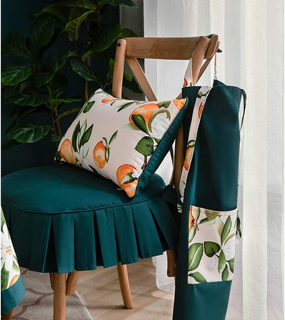 WYH Doux Coussin de Chaise en Fer à Cheval Pure Color Side Pur Coton Coussin Amovible et Lavable à Manger Chaise Coussin Durable (Color : C) A