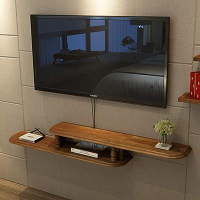 Asimétrica Flotante Consola para TV,Madera Pared TV Mueble ...