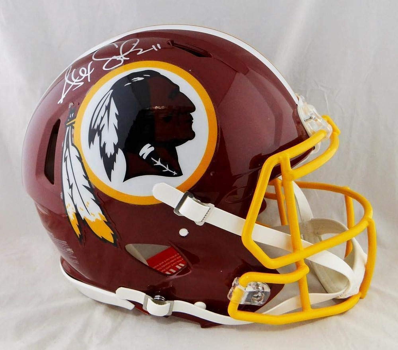 Alex Smith Signed Helmet  F S Speed Authentic Beckett Auth Silver  Beckett Authentication  Autographed NFL Helmets