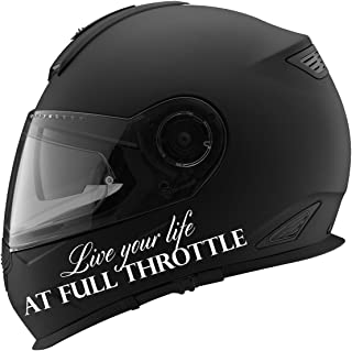 Live Your Life At Full Throttle Auto Car Racing Motorcycle Helmet Decal - 5