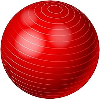 كرة اليوجا بيلاتس لتمارين اللياقة البدنية والتوازن احمر 65 سم 26 انش