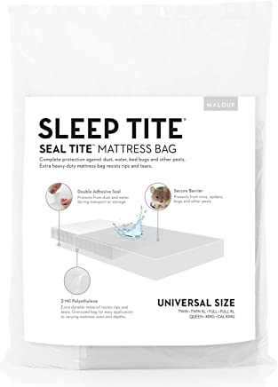 MALOUF SL00QQMB Seal TITE Heavy Duty Sealable Bag-Protects Your Mattress While Moving or in