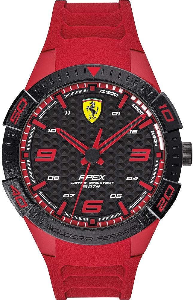 Scuderia Ferrari Reloj Analógico para Hombre de Cuarzo con Correa en Silicona 0830664
