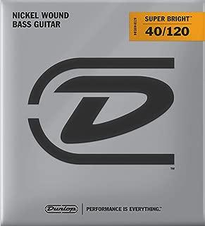 Dunlop DBSBN40120 Super Bright Bass Strings, Nickel Wound, Light, .040–.120, 5 Strings/Set