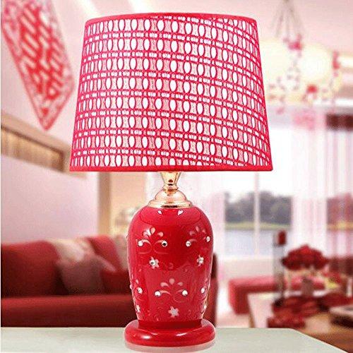 Wddwarmhome Lampe créative de mode en céramique lampe rouge, E27