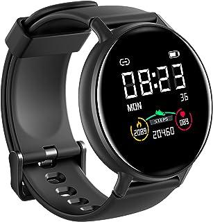 IOWODO Smartwatch Hombre Mujer con Oxímetro(SpO2), Reloj Inteligente Impermeable 5ATM con Notificación de Mensajes Esfera ...