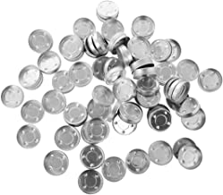 SUPVOX 200pcs Aluminum Tea Light Tins Aluminium Candle Mold Empty Tealight Candle Cases Wax Containers Tins for DIY Candles Making Supplies