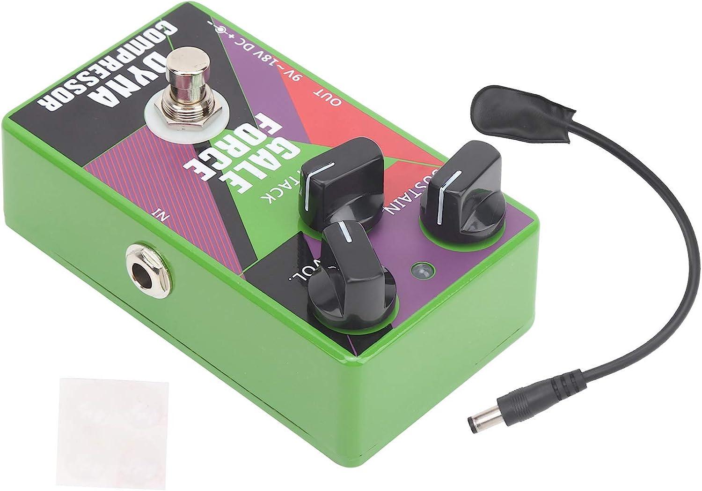 Pedal de compresor dinámico, pedal de sostenimiento True Bypass Unidad de bloque único para guitarra eléctrica