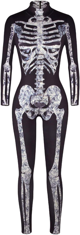 Halloween Costume for Women Skeleton Long Cosplay Max 79% OFF Industry No. 1 Bodysuit Sleev