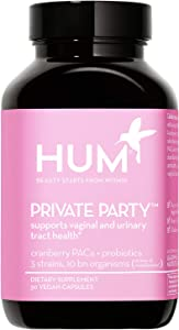 HUM Private Party - Daily Vaginal Probiotics & Cranberry Pills for Women to Help Maintain Yeast Balance - Vegan Oral Supplement to Support Healthy Vaginal pH & Urinary Tract Health (30 Capsules)