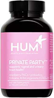 HUM Private Party - Daily Vaginal Probiotics & Cranberry Pills for Women to Help Maintain Yeast Balance - Vegan Oral Suppl...