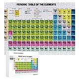Hangdachang Tabla periódica de los Elementos con número atómico, Rompecabezas de 500 Piezas, Multicolor, 20.5 'L x 15' W