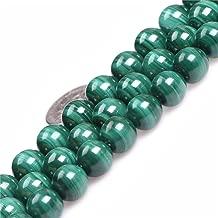 6mm Round Gemstone Malachite Grade A Beads Strand 15 Inches Jewelry Making Beads