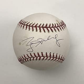 Autographed/Signed Roy Halladay Rawlings Official Major League Baseball ROML JSA COA Holo Only