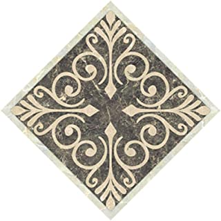 Daydayholiday Tile Diagonal Stickers Floor Tiles Ceramic Stickers Removable Waterproof PVC Tile Fecals,20 PCs 3.14x3.14 Inch,DJ003
