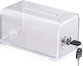 Polmart Clear Suggestion/Business Card/Drawing Box with Lock
