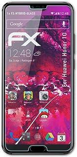 atFoliX Plastglasskyddsfilm är kompatibel med Huawei Honor 10 Glasskydd, 9H hybridglas FX Skyddsglas av plast