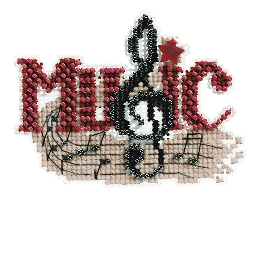 Music Beaded Counted Cross Stitch Ornament Kit Mill Hill 2011 Autumn Harvest MH18-1204