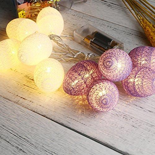 Hniunew Holiday Lichterketten Ostern Ostereier Zimmer Lichterkette Fasching 10Pcs Dekorative Osterlichterkette Led 1.8M Orientalisch Kugel Ball Lichterkette Batteriebetrieben Innen Wandleuchte