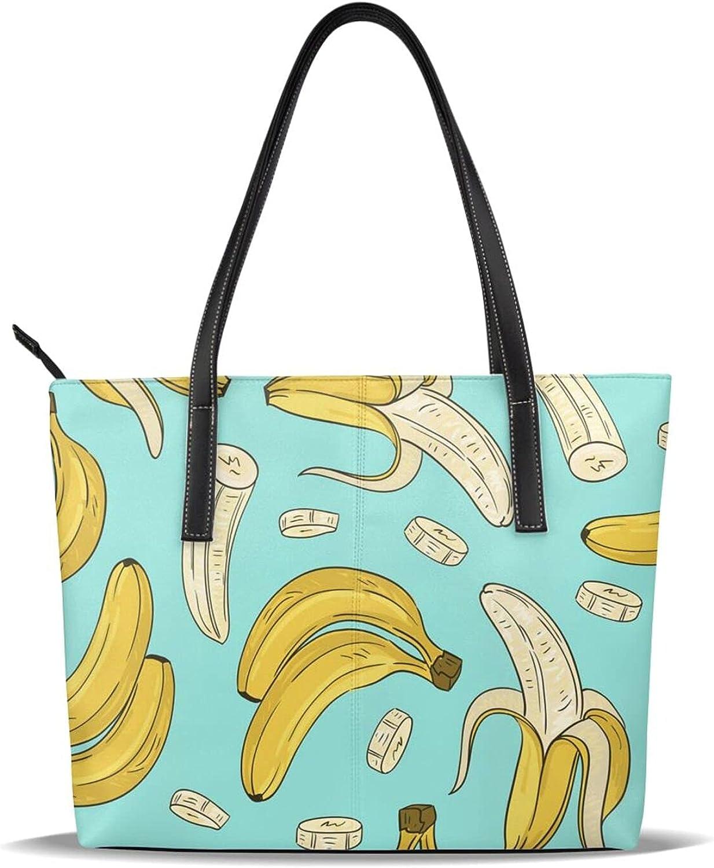 Yummy Banana Women's Tote Fees free Handbag Shoulder Top Bag Max 72% OFF Hand B Handle