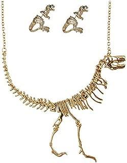 Women's Dinosaur Vintage Necklace Short Collar Choker Jewelry
