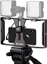 Zeadio Smartphone Video Rig, Grip Stabilizer Cellphone Tripod Holder for All Phones