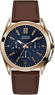 Guess Vertex Mens Analog Japanese Quartz Watch with Leather Bracelet W1217G2