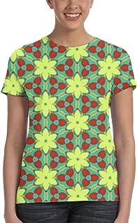 XYYtshirt Girl T-Shirt Tee Youth Fashion Tops Bird Repeating Line Design
