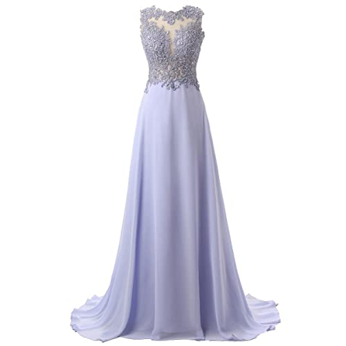 365f1ad330a Callmelady Lace Appliqued Prom Dresses 2019 Long Evening Gowns for Women  Formal