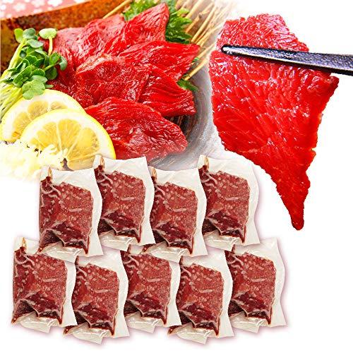 馬刺し 上赤身 熊本産 ブロック肉 10 人前 小分け 500g 50g×10 パック