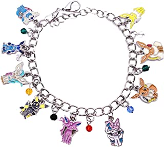 New Horizons Production Eevee Evolutions Assorted Charms Metal Charm Bracelet