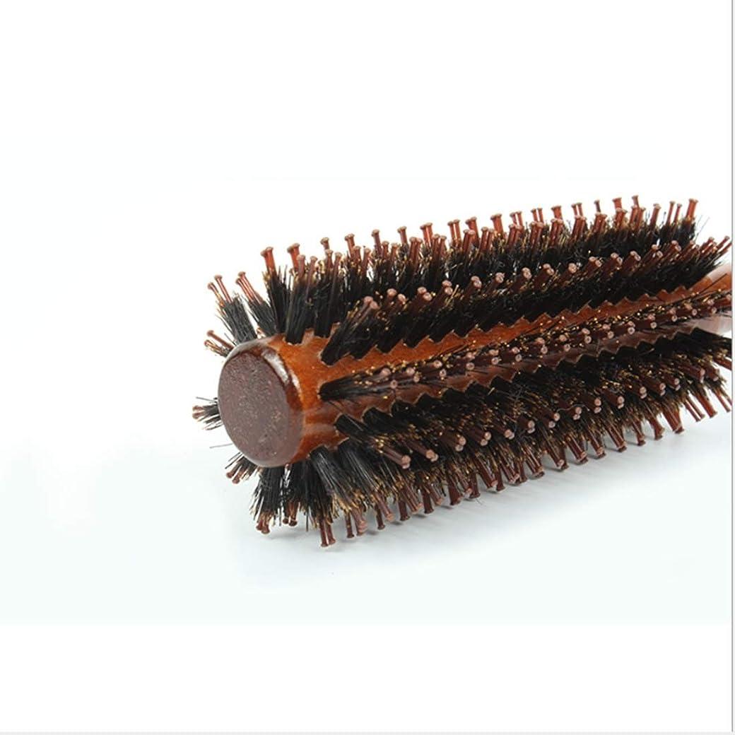 深さマイクロフォン順応性Guomao 女性のためのストレート&ツイルヘアコームラウンドバレルヘアブラシ-22インチの長さ (サイズ : Straight-S)