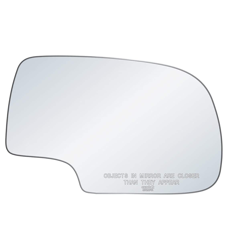 exactafit 8720PR Right Passenger Side Power Mirror Replacement Glass Chevy GMC GM Silverado Tahoe Sierra Yukon 1500 2500 3500 HD 1999-2007