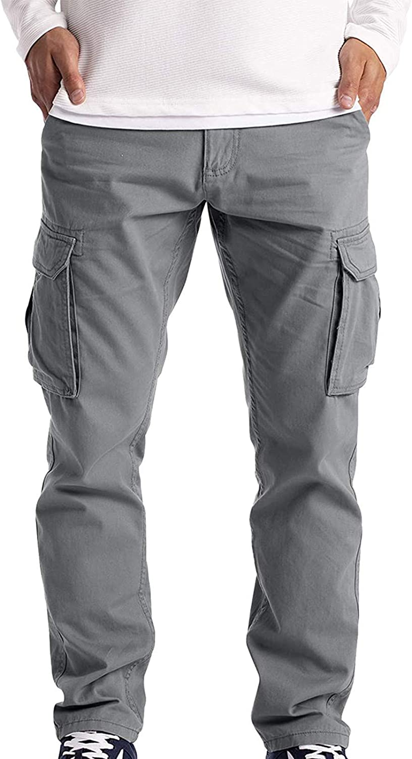 Men's Cargo Pants Straight Twill Summer Casual Tactical Pants Buttons Waist Multi-Pocket Outdoor Apparel - Limsea