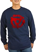 CafePress Distressed Red 45 RPM Adapter Long Long Sleeve T