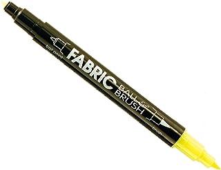 Uchida 122-S-F5 Ball and Brush Open Stock Fabric Marker, Fluorescent Yellow