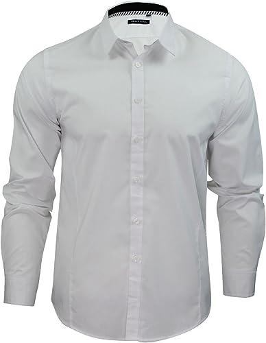 Brave Soul Tudor Camisa Para hombre, simple, para hombre, de manga larga