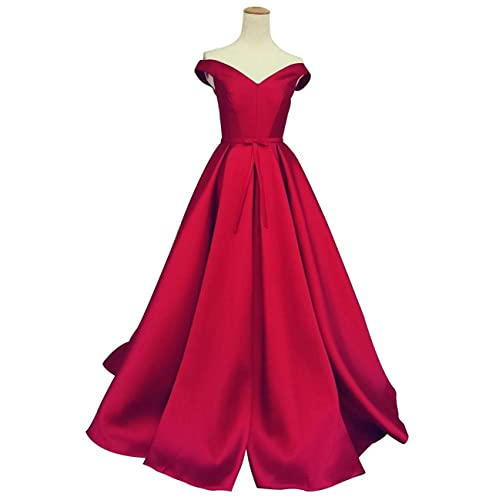 6b0961442ec Duraplast Women s Prom Dresses Long Off The Shoulder Princess Ball Gown