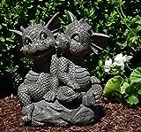MystiCalls by Mayer Chess Gartendrachenpaar sitzt auf Fels- Garten, Figur, Drache, Love