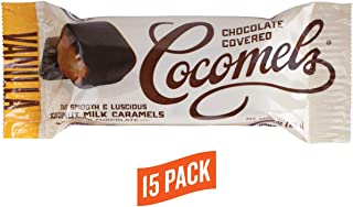 Cocomels Chocolate Covered Vanilla Caramel Squares, Organic Candy, Dairy Free, Vegan, Gluten Free, Non-GMO, No High Fructose Corn Syrup, Kosher, Plant Based, (15 Two-Packs)