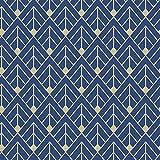 RASCH 305517 Papier peint à paillettes Motif flèches géométriques Bleu 10 m