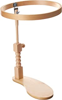 Lacis Sit-On Round Embroidery Lap Frame, 10-Inch