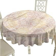 SKDSArts Table Covers Dahlia Flower,Vintage Pale Blossoms D36,for Spring
