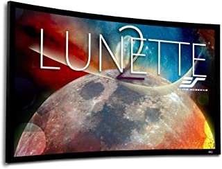 Elite Screens Lunette 2 Series, 135-inch Diagonal 16:9, Curved Home Theater Fixed Frame Projector Screen, CURVE135WH2