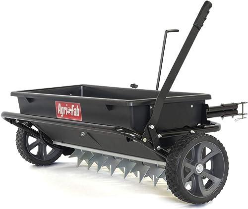 Agri-Fab-45-0543-100-lb.-Tow-Spiker/Seeder/Spreader,-Black