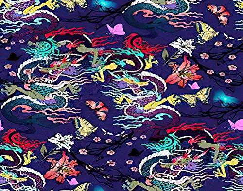 Y·JIANG Pintura con motivos chinos por números, flores y dragones DIY lienzo acrílico pintura al óleo por números para adultos niños decoración de pared del hogar, 40,6 x 50,8 cm