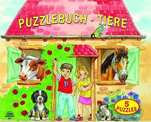 Puzzlebuch Bauernhoftiere 5 Puzzles (12 teilig) mit gereimten Texten