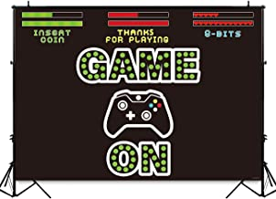 Funnytree 7X5ft Video Game On Party Backdrop Kids Retro Gaming Photography Background Boy Birthday Baby Shower Decorations Cake Table Banner Photo Booth Studio Props