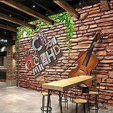 Zghnzk Personalización Papel Tapiz 3D Paredes Papel Tapiz Fotográfico 3D Murales Fondos Para Sala De Estar Hojas Verdes Cello-400X240Cm